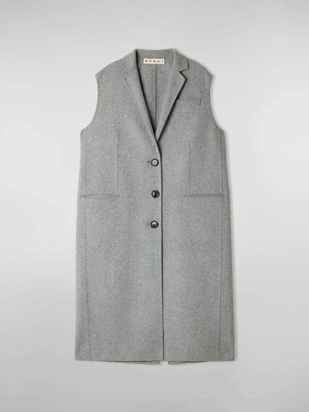 Marni Long vest in felted double wool Woman - 2