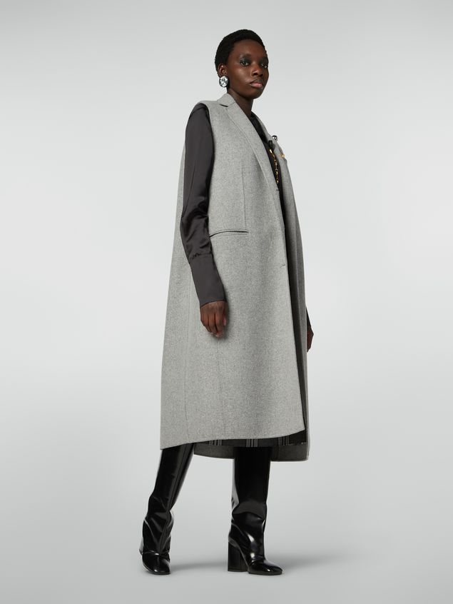 Marni Long vest in felted double wool Woman - 1