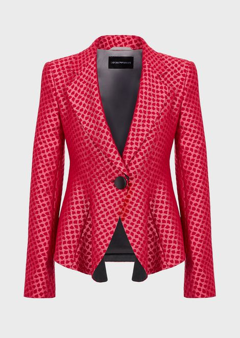 Jacket with zip and flared hem