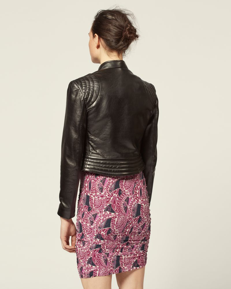 Leather jacket Details on the shoulder Button fastening ISABEL MARANT