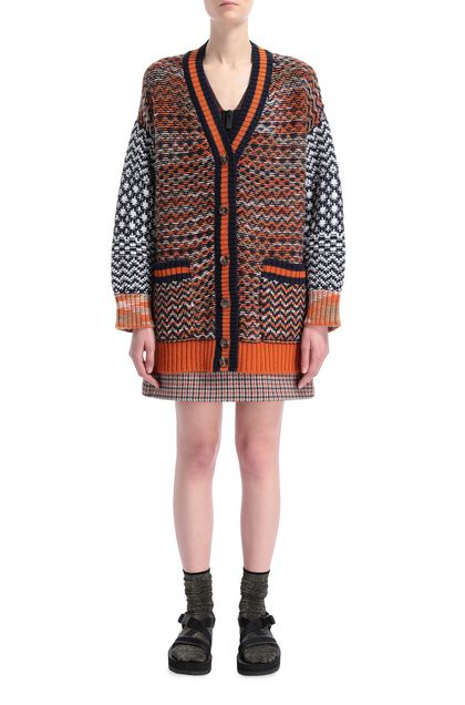 M MISSONI Coat Dark blue Woman - Back