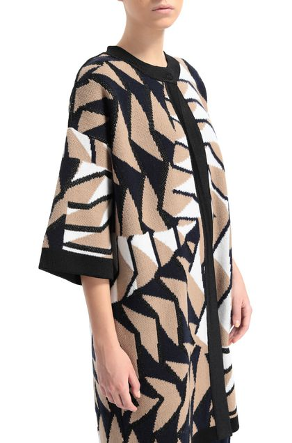 M MISSONI Coat Khaki Woman - Front