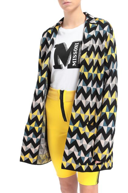 M MISSONI Jacket Yellow Woman - Front