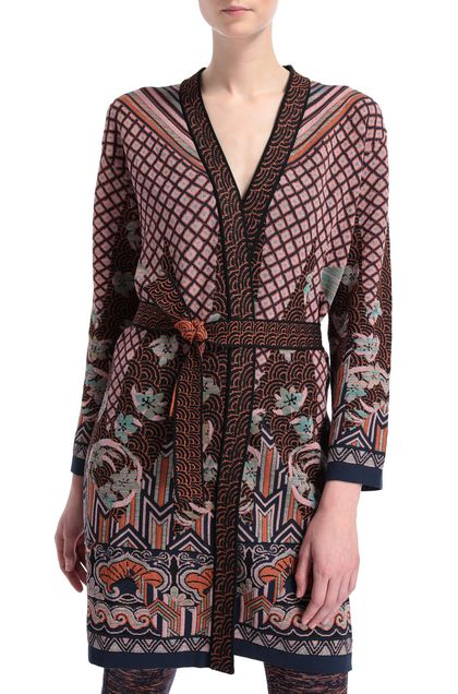 M MISSONI Dust coat Light pink Woman - Front