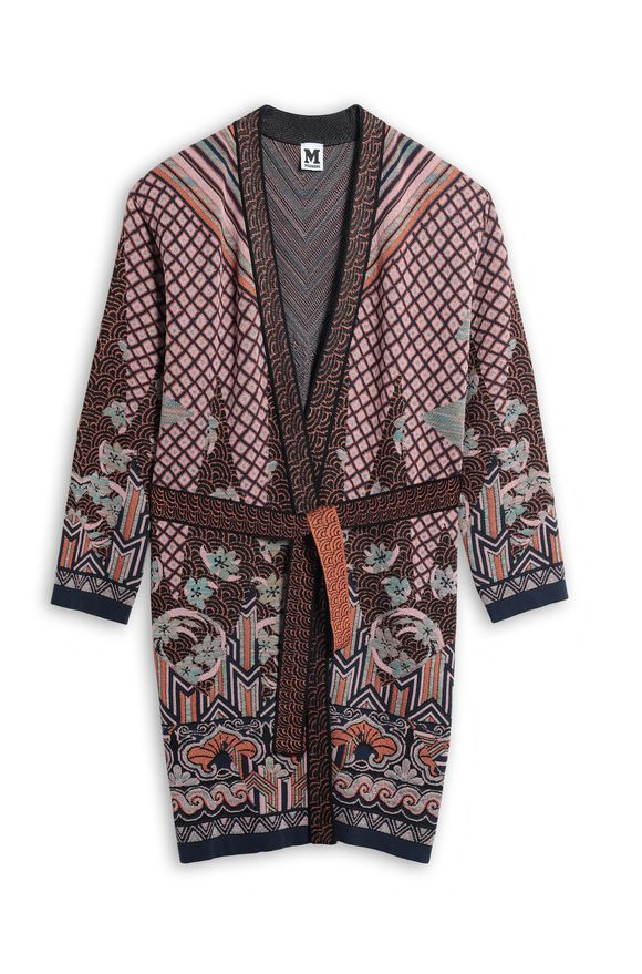 M MISSONI Dust coat Light pink Woman