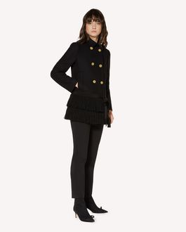REDValentino Fringed wool and cashmere coat