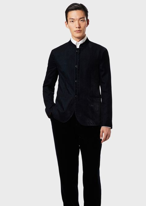 Super lightweight embossed velvet jacket