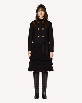 REDValentino Fringes detail wool Cashmere coat