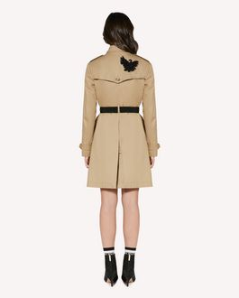 REDValentino Swan embroidered trench coat