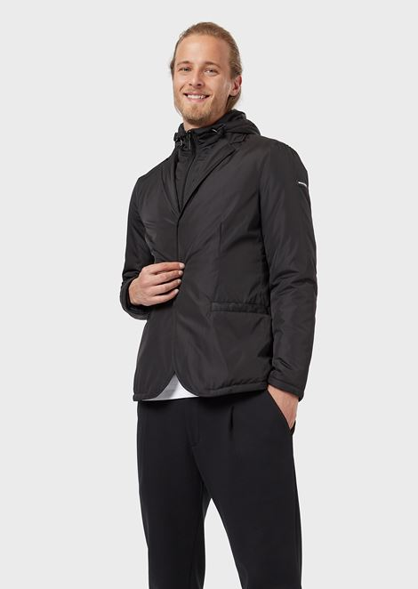Jacket in technical fabric with inner bib