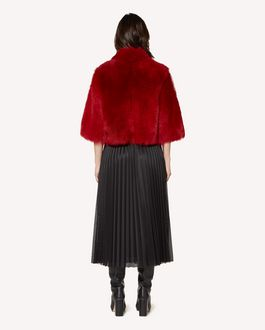 REDValentino Sheepskin jacket with scallop detail