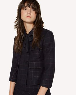 REDValentino Lurex and wool check jacket