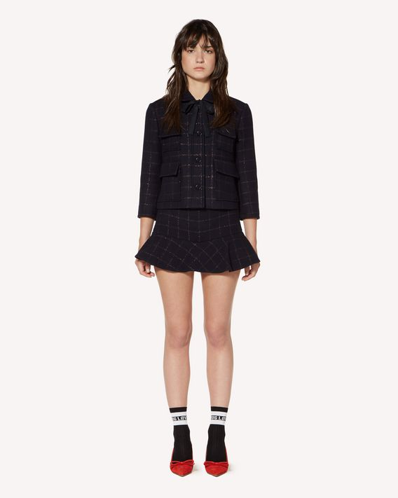 REDValentino  Wool lurex check jacket