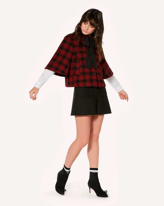 REDValentino Glen Plaid jacket with bow