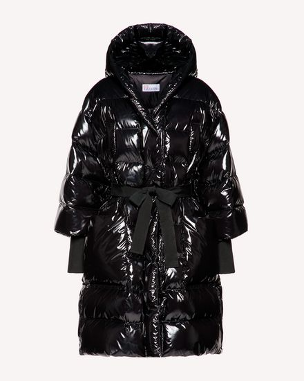 Lacquered nylon down jacket