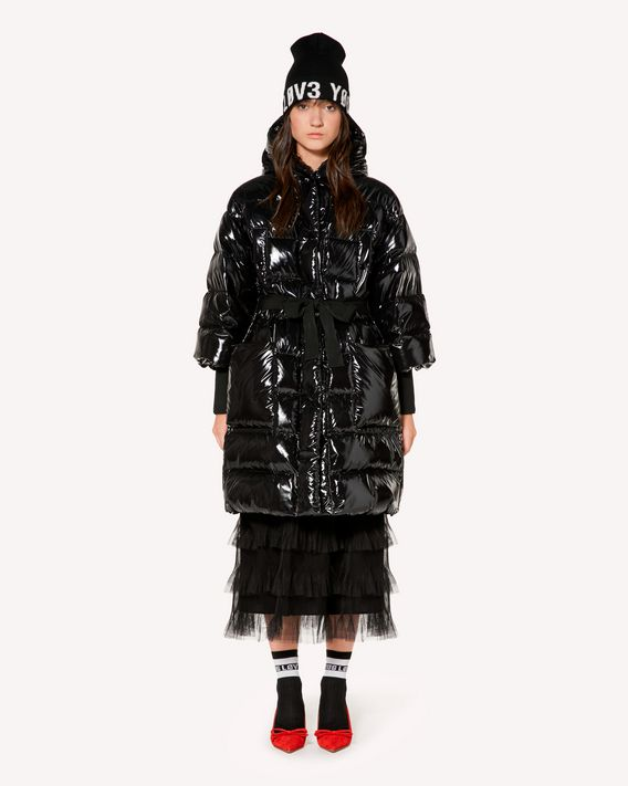 REDValentino Lacquered nylon down jacket