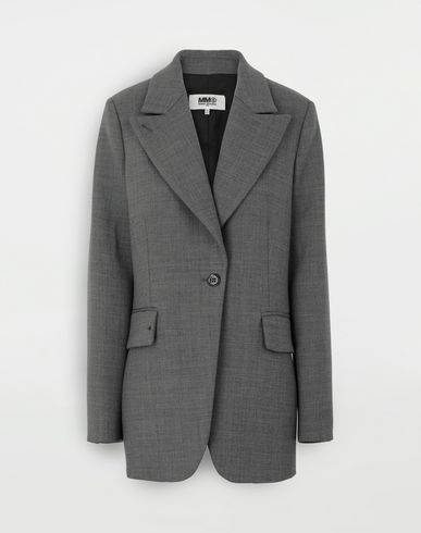 MM6 MAISON MARGIELA Techno-wool blazer Jacket Woman f