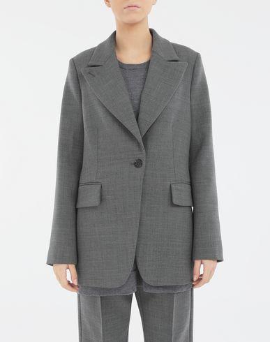 COATS & JACKETS Techno-wool blazer Grey