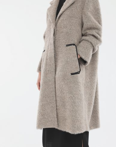 COATS and JACKETS Mohair coat Dove grey
