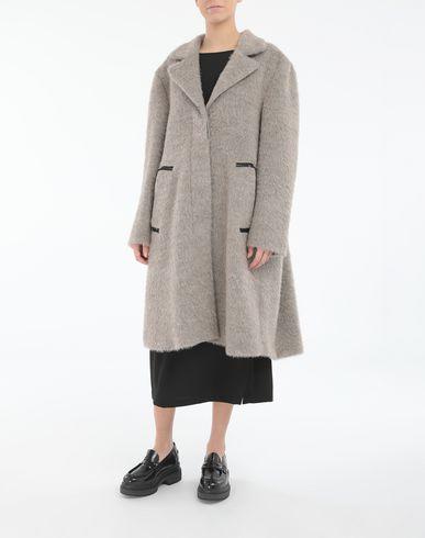 コート・ジャケット モヘア コート ドーブグレー