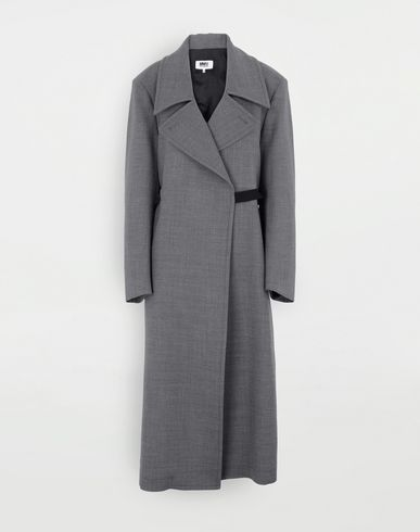 MM6 MAISON MARGIELA Cappotto in lana tecnica Cappotto Donna f