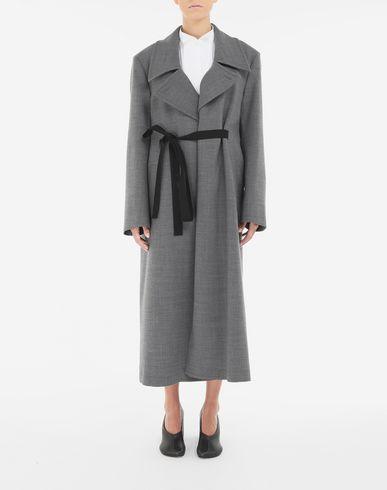 COATS and JACKETS Techno-wool coat Grey