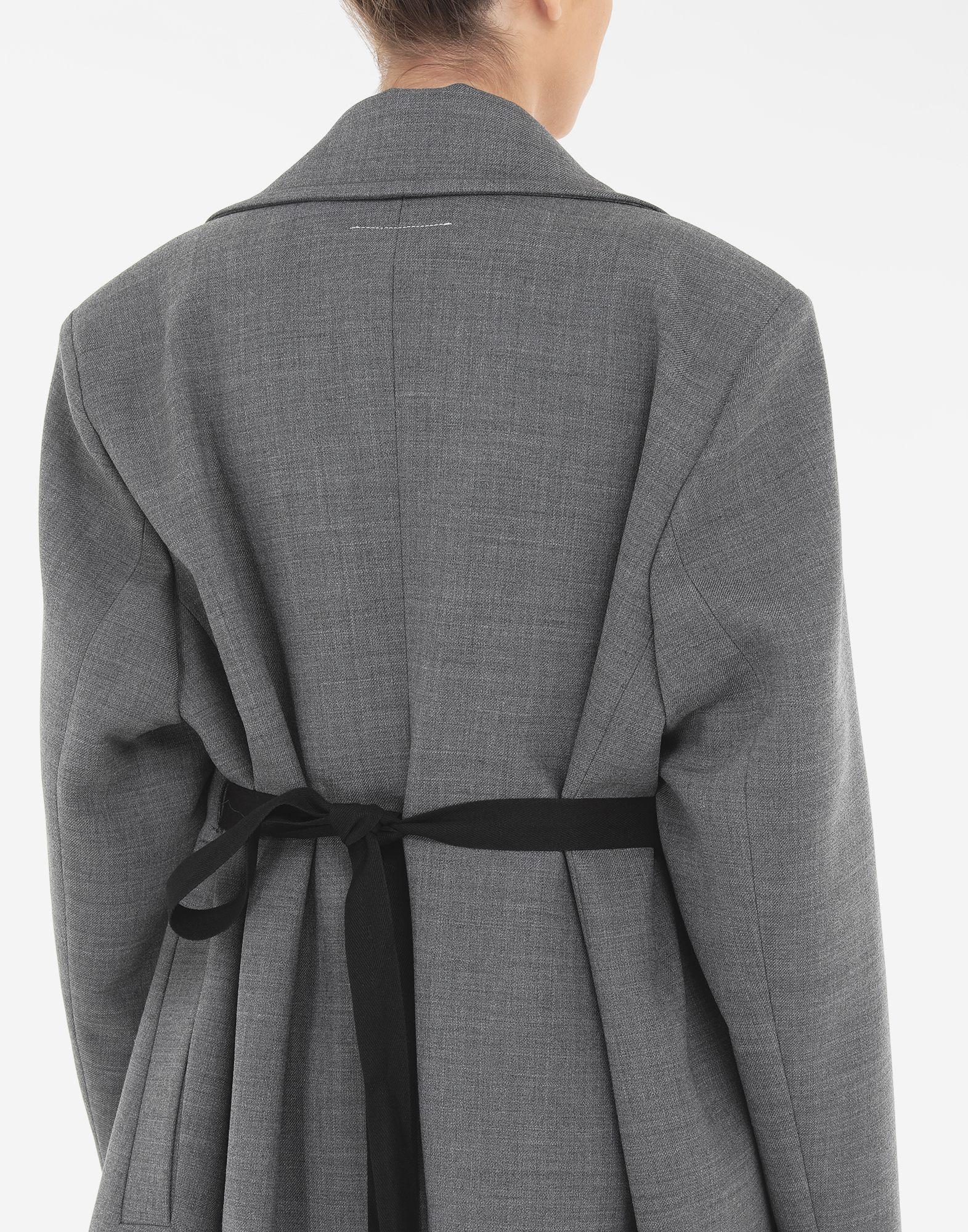 MM6 MAISON MARGIELA Techno-wool coat Coats and Trenches Woman b