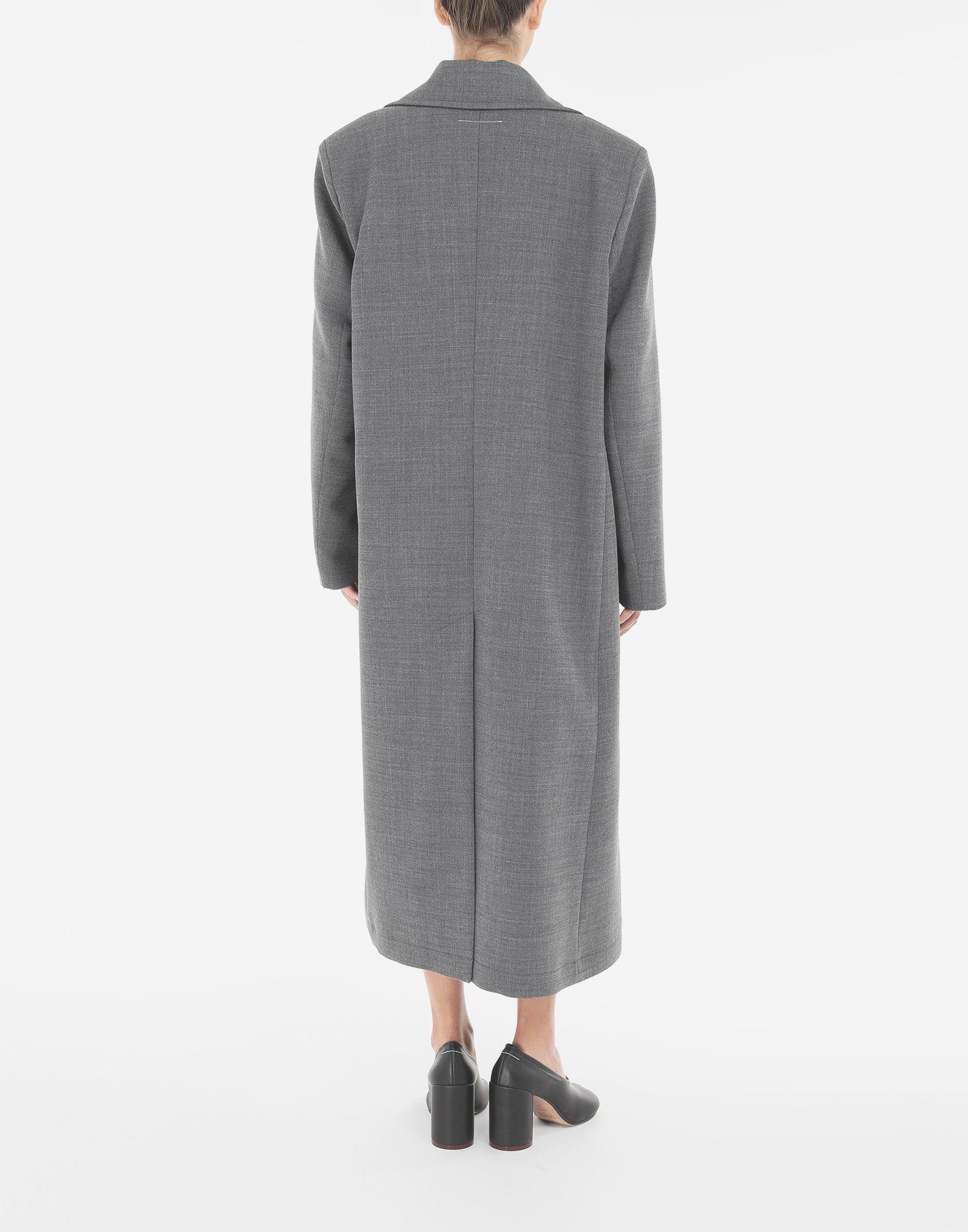 MM6 MAISON MARGIELA Techno-wool coat Coats and Trenches Woman e