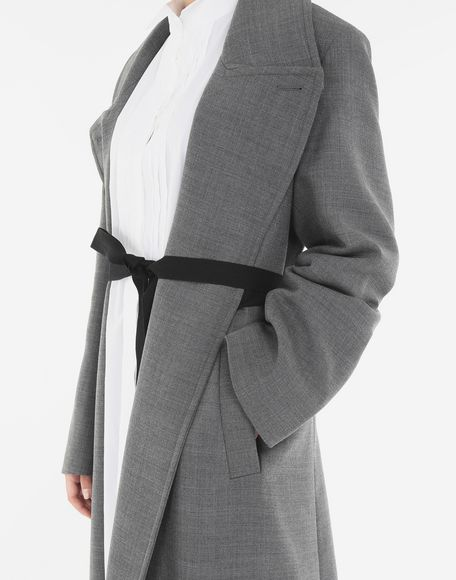 MM6 MAISON MARGIELA Techno-wool coat Coats and Trenches Woman a