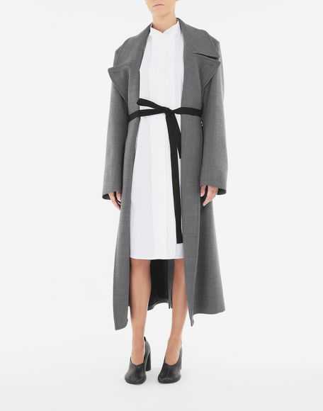 MM6 MAISON MARGIELA Techno-wool coat Coats and Trenches Woman d
