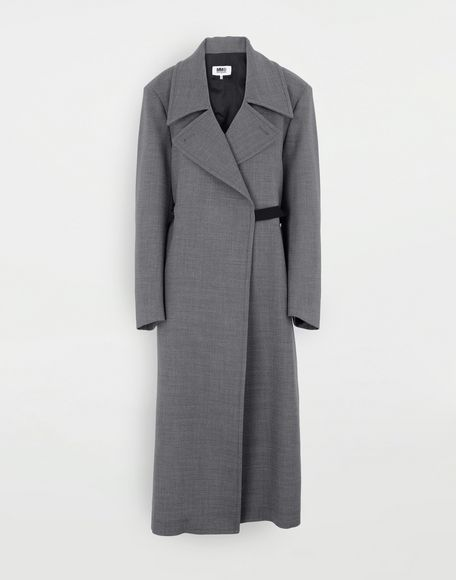 MM6 MAISON MARGIELA Techno-wool coat Coat Woman f