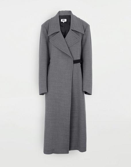 MM6 MAISON MARGIELA Techno-wool coat Coats and Trenches Woman f