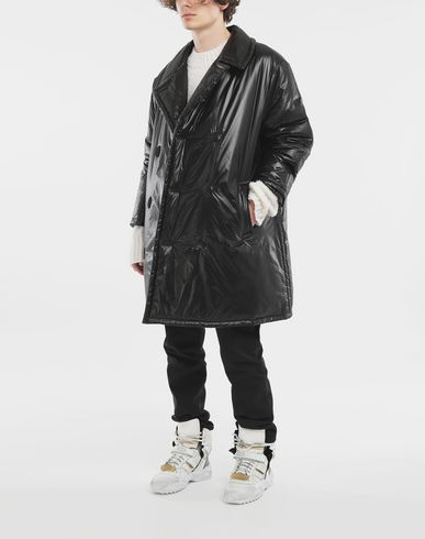 COATS & JACKETS Padded nylon coat Black