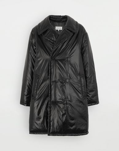 COATS and JACKETS Padded nylon coat Black