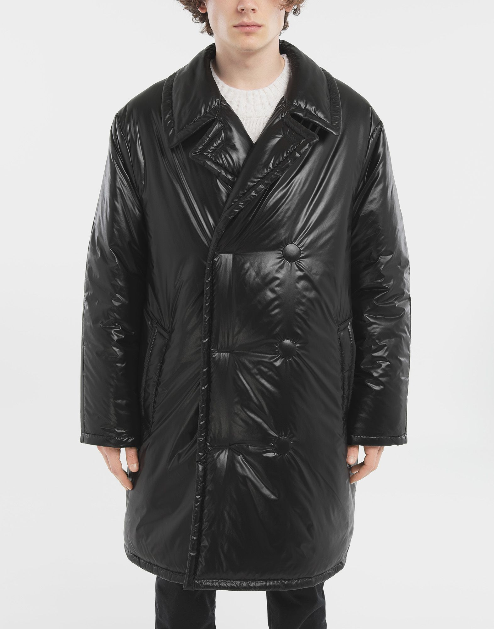 MAISON MARGIELA Padded nylon coat Coats and Trenches Man r