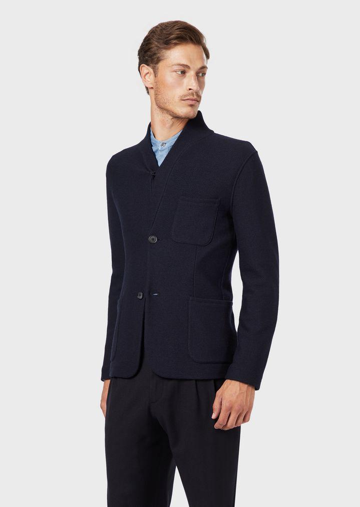new style 41179 afc86 Giacca destrutturata con collo a scialle in lana vergine