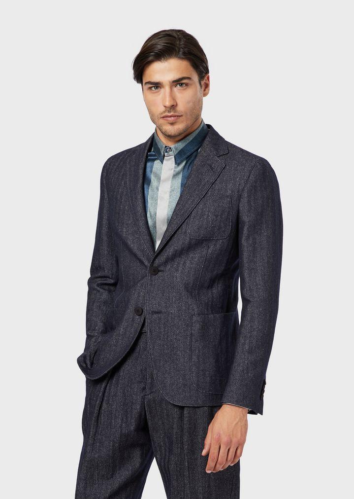 Regular-fit Upton range deconstructed jacket in cashmere