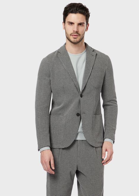 Slim-fit Tokyo jacket with a three-dimensional, geometric pattern