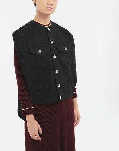 COATS & JACKETS Reworked denim top Black