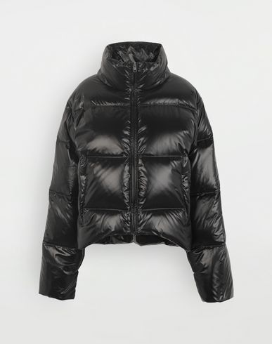 COATS and JACKETS Puffer nylon jacket Black