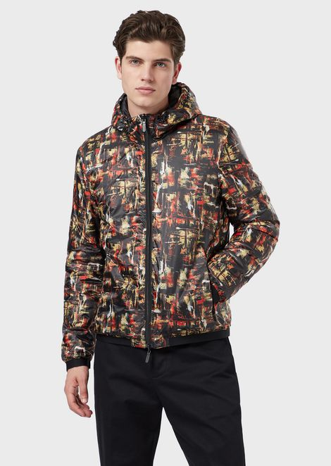 Reversible jacket with all-over print