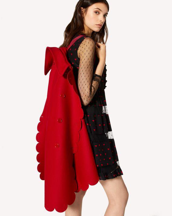 REDValentino Scallop detail wool Cashmere cape