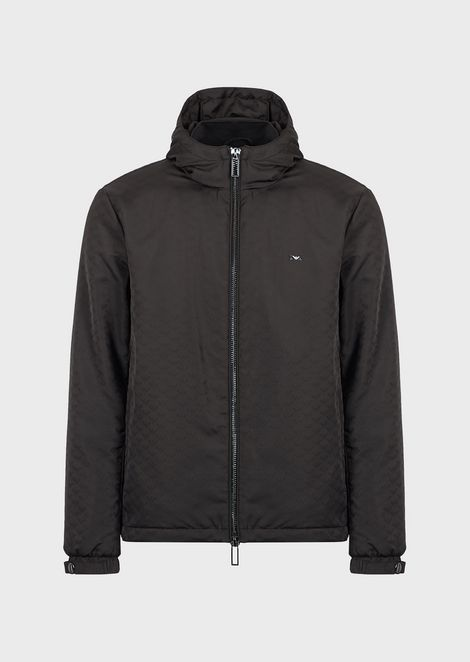 Nylon jacket with jacquard monogram