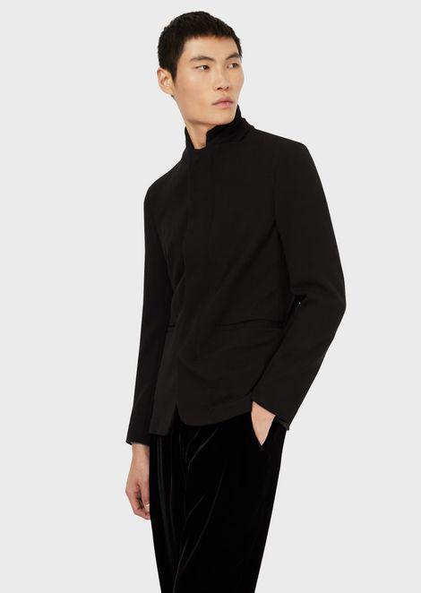 Nehru-collar jacket in 3D techno jersey