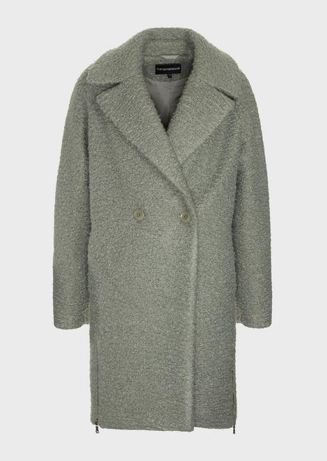 Пальто из сукна скаракулевым эффектом