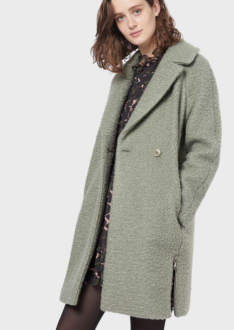 Astrakhan-effect cloth coat