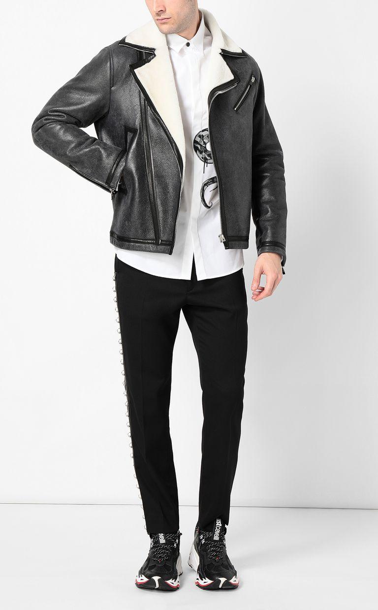JUST CAVALLI Leather jacket Jacket Man d