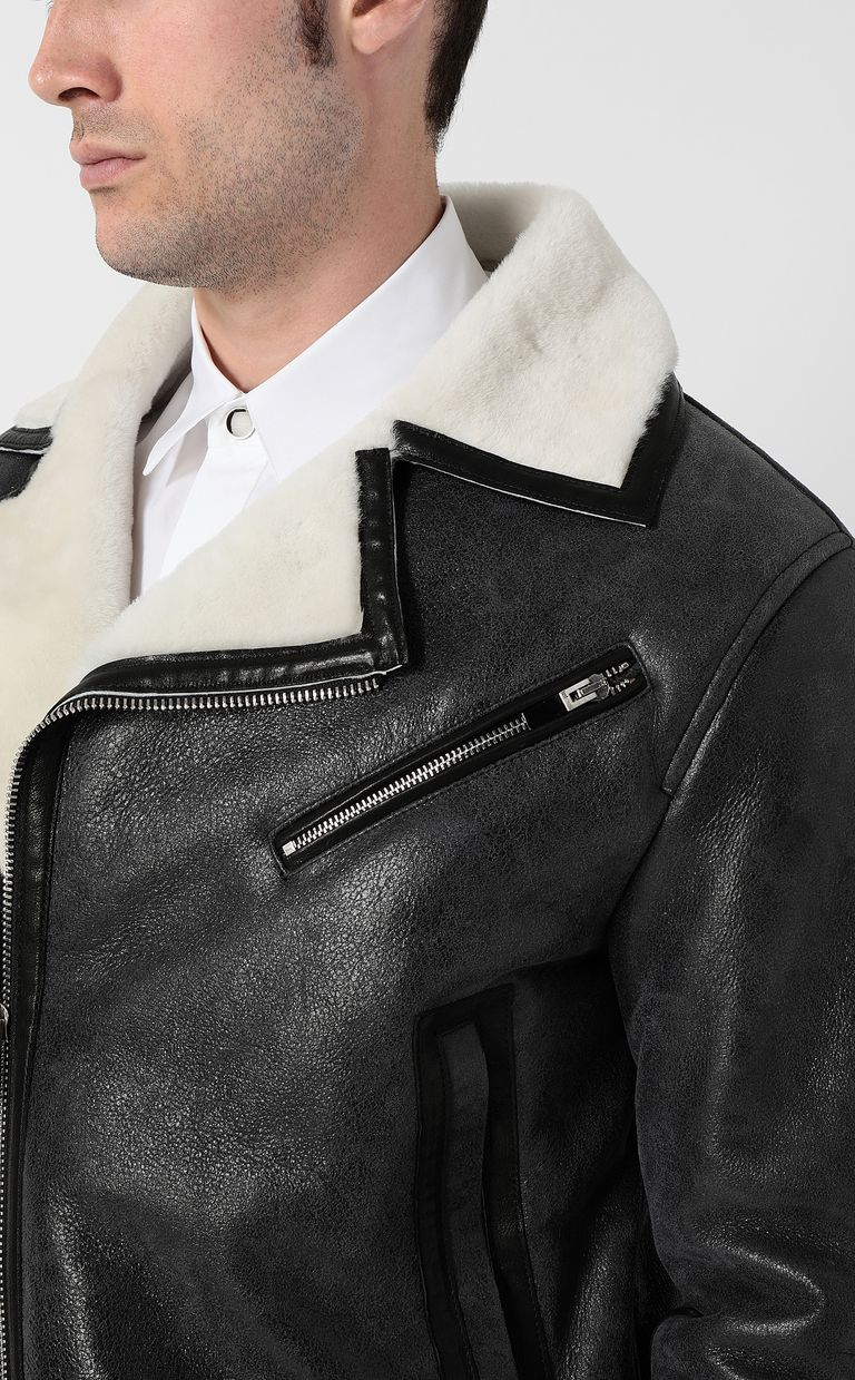 JUST CAVALLI Leather jacket Jacket Man e