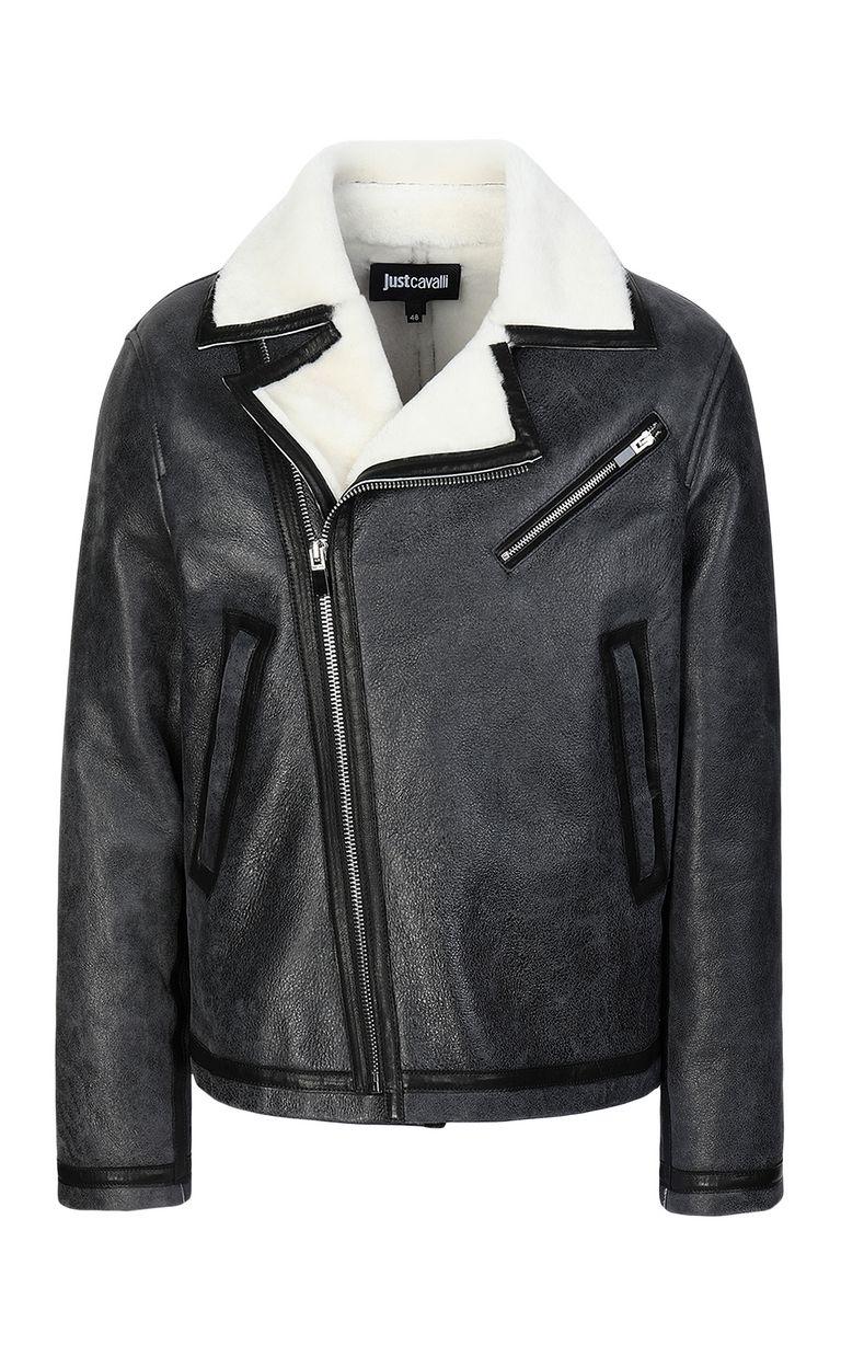 JUST CAVALLI Leather jacket Jacket Man f