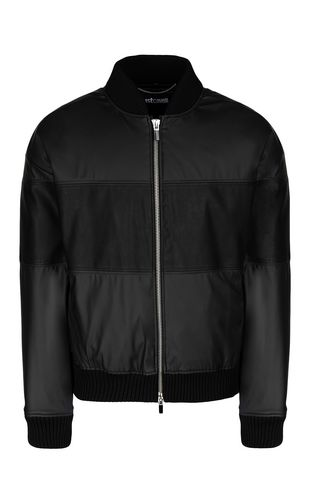 JUST CAVALLI Jacket Man Nylon jacket with Just print f